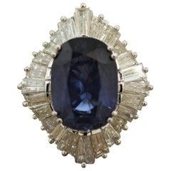 8.30 Carat Sapphire Diamond Platinum Ring