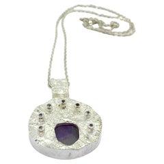 830H Silver Necklace Finland Amethyst