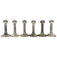 830H Sterling Silver 1972-1975 Finland Pentti Sarpaneva Six Lace Candleholders