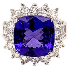 8.31 Carat Tanzanite White Gold Cocktail Ring