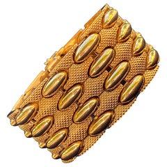 83.4 Gram 1950s Retro Era 18 Karat Yellow Gold Men's Bangle