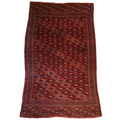 834 - Pretty Turkmen Bukhara Carpet from the 20th Century