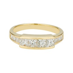.84 Carat Diamond Yellow Gold Channel Set Wedding Band Ring