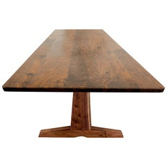 "84"" Columbia Trestle Table in Oregon Walnut by Studio Moe"
