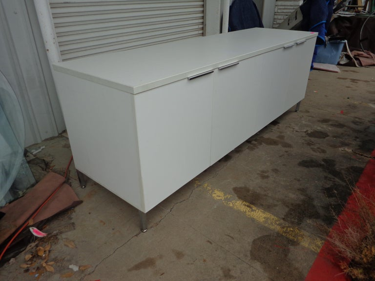 North American Knoll Style White Credenza For Sale