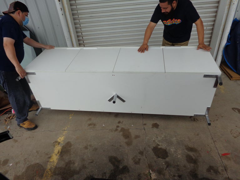 Knoll Style White Credenza For Sale 2