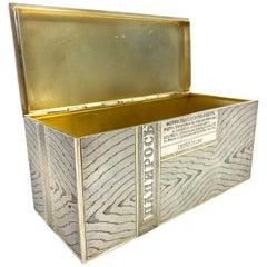 84 Silver Russia 1880 Antique Trompe-l'oeil Cigarette Box
