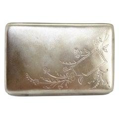 84 Silver Russian Cigarette Case