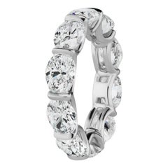 8.42 Carat Oval Diamond Horizontally Set 'East-West' Eternity Band Ring