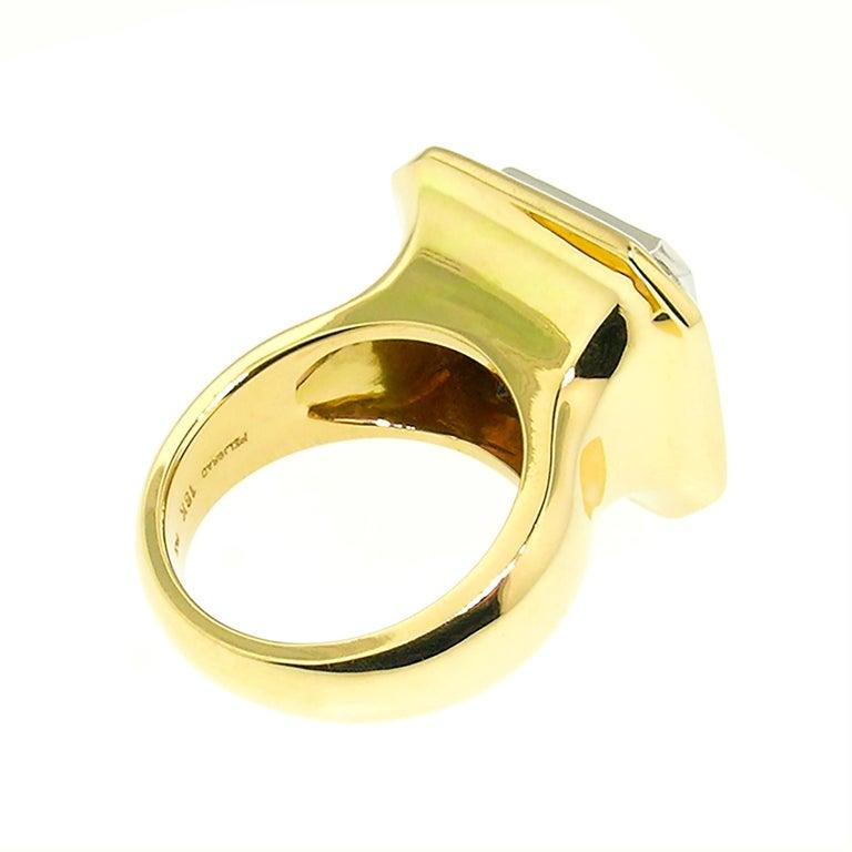 Women's 8.43 Carat Oregon Sunstone and Diamond 18 Karat and Platinum Ring For Sale