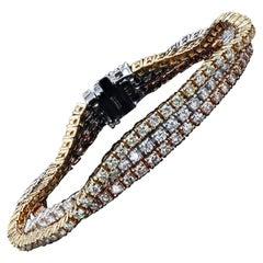 8.45ctw Diamond 14k Yellow, Rose and White Gold Bracelet