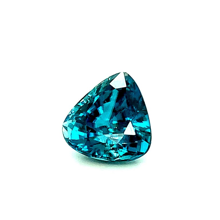 Trillion Cut 8.46 Carat Blue Zircon Trillion, Unset Loose Gemstone for Ring or Drop Pendant For Sale