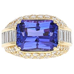 8.47 Carat Tanzanite and Diamond Cocktail Ring