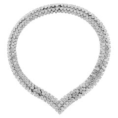85 Carat Diamond Platinum Choker Necklace Transferrable Bracelets