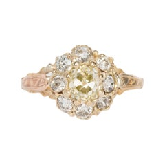 .85 Carat Diamond Yellow Gold Engagement Ring
