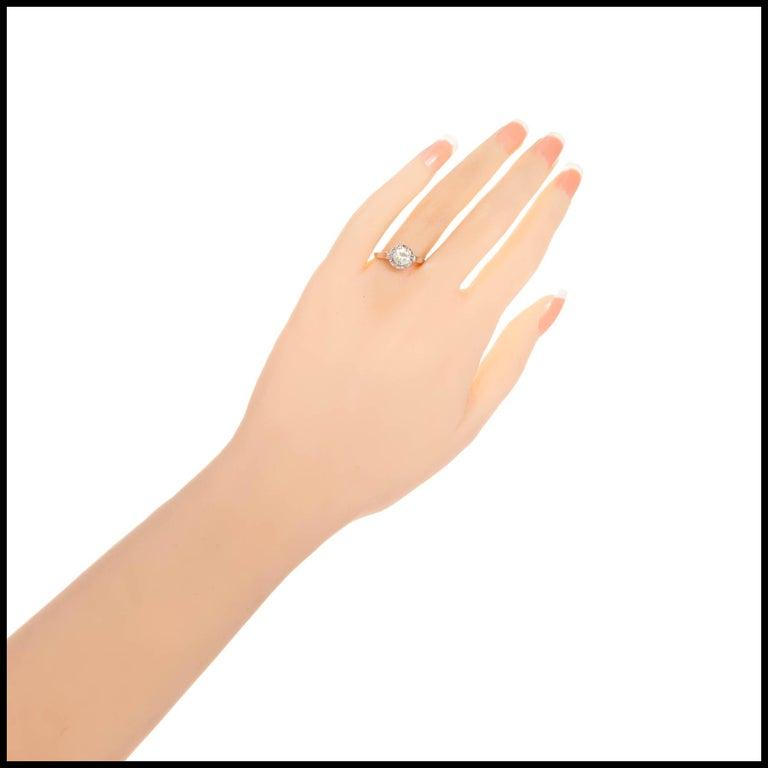 .85 Carat Round Diamond Platinum Gold Solitaire Engagement Ring For Sale 1