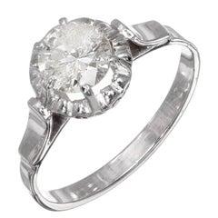 .85 Carat Round Diamond Platinum Gold Solitaire Engagement Ring