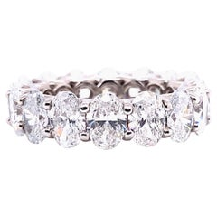 8.5 Carats Oval Shape Diamond Eternity Band