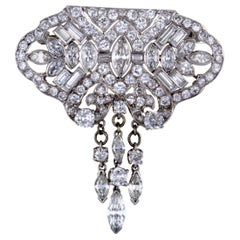 8.50 Carat Diamond Platinum Brooch