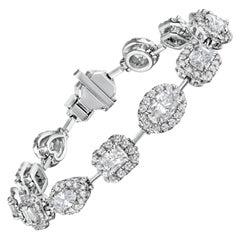 8.50 Carat Mixed Shape Diamond Bracelet