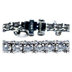 8.50 Carat Round Brilliant Diamond Platinum Straight Line Tennis Bracelet