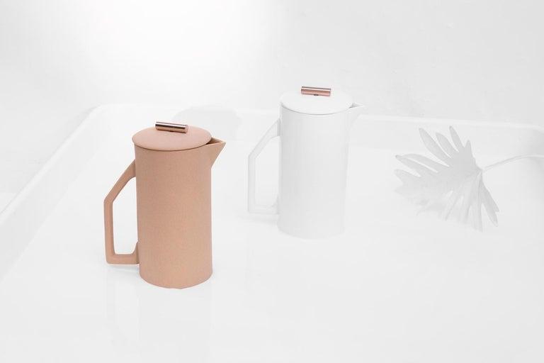 American 850 mL Ceramic French Press, Matte Sand For Sale