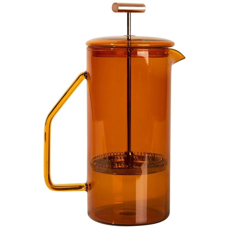 850 mL Glass French Press, Amber For Sale