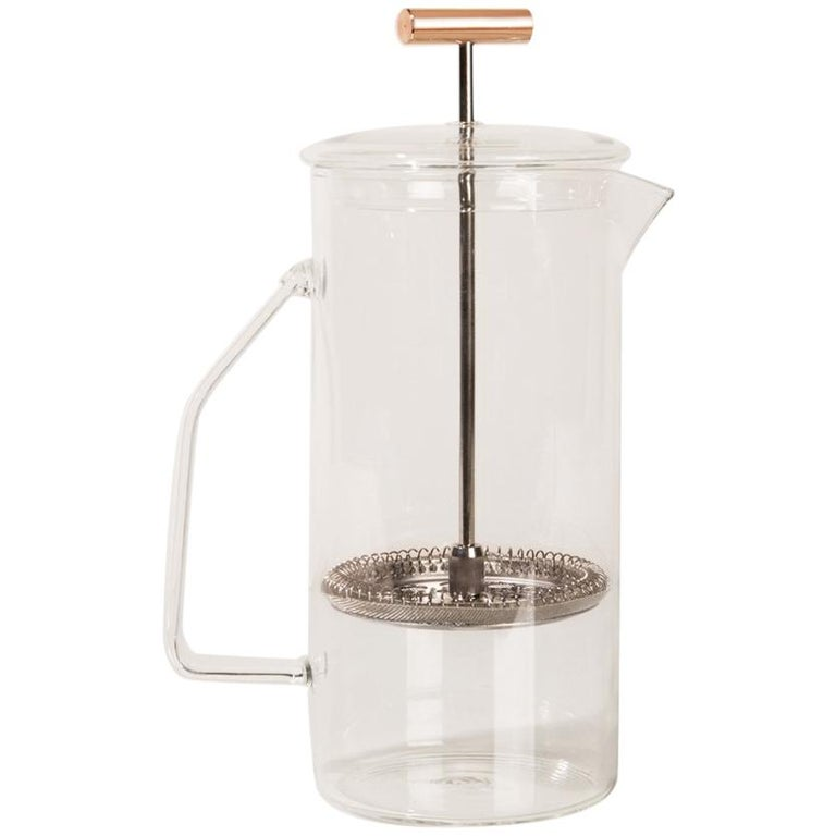 850 mL Glass French Press, Clear For Sale