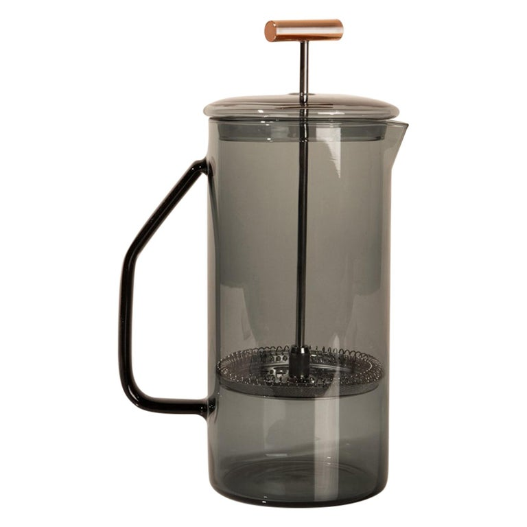 850 mL Glass French Press, Gray For Sale