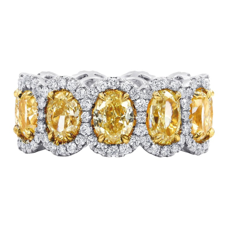 8.52 Carat Fancy Yellow Eternity Band