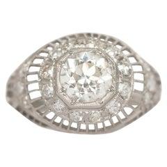 .86 Carat Diamond Platinum Engagement Ring