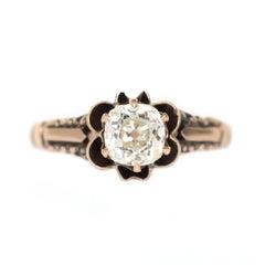 .86 Carat Diamond Yellow Gold Engagement Ring