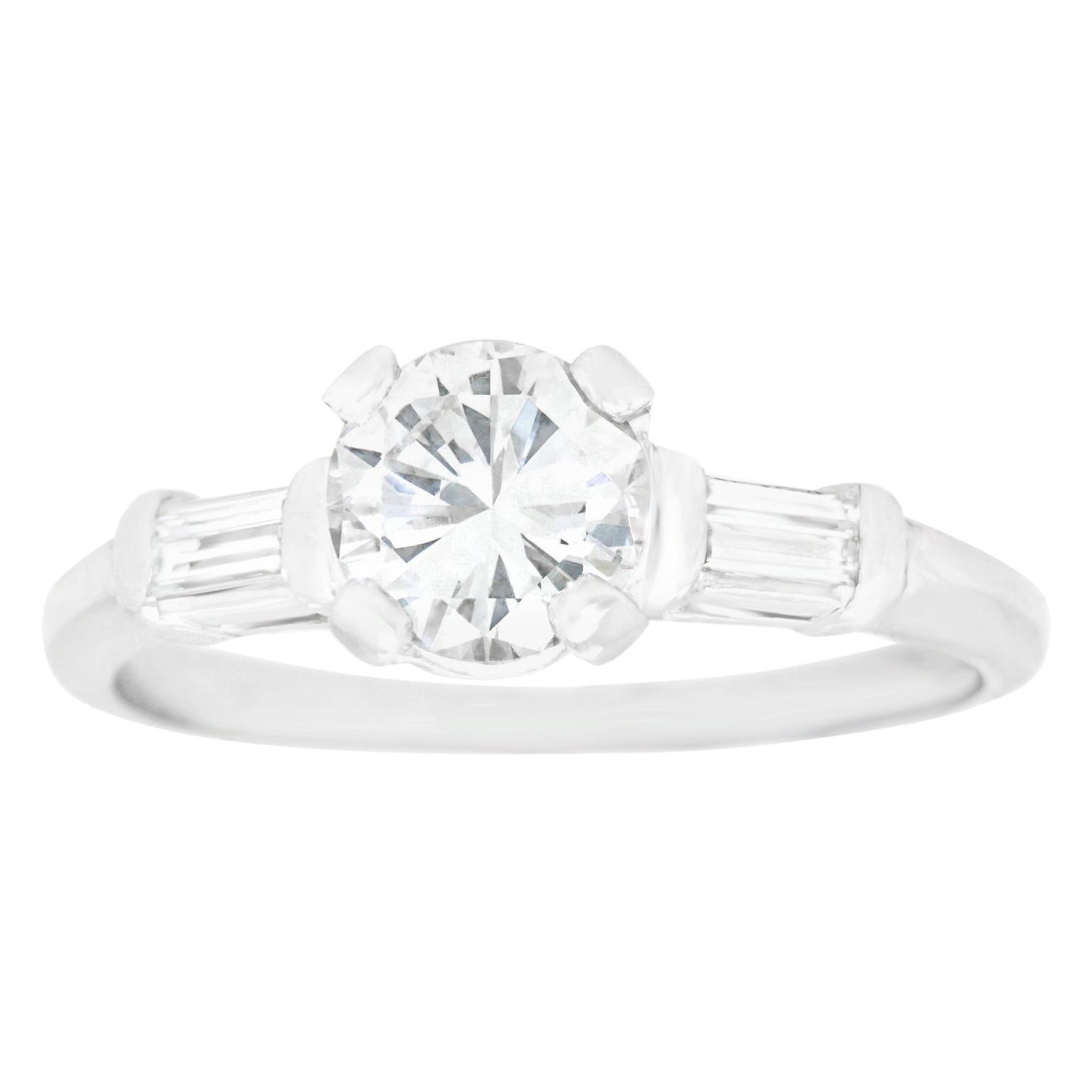 .86 Carat E VS2 Engagement Ring Platinum GIA