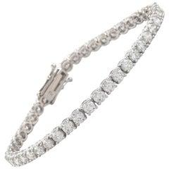 Alexander 8.60 Carat Diamond Tennis Bracelet 18 Karat White Gold