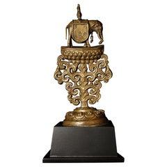 18th/19th Century Bronze Tibetan Altar Piece - 8629