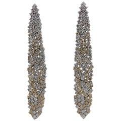 8.67 Carat Diamond Earring in 18 Karat Gold