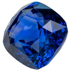 8.68 Carat Vivid Blue Sapphire, Madagascar, Unheated, Royal Blue