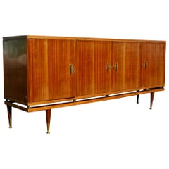 7ft Vintage Italian Sideboard Credenza Buffet