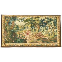"872 -  Beauvais Tapestry ""Wolf Hunt"", 19th Century"