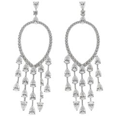 8.74 Carat Dream Catcher Carat Diamond Drop Earrings