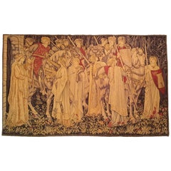 875 -  Aubusson Tapestry, 20th Century ( THE QUEST FOR THE HOLY GRAIL )