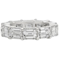 8.75 Carat Emerald Cut Diamond Horizontal Eternity Wedding Band