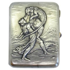 875 Silver Soviet Union Russia 1950 Cigarette Case a Gift from the President