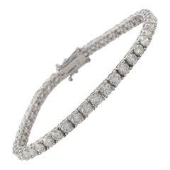 Alexander 8.78 Carat Diamond Tennis Bracelet 18 Karat White Gold