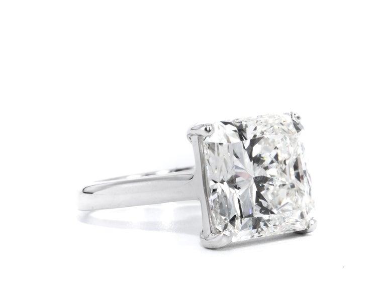8,78 Karat Radiantschliff Diamant Verlobungsring GIA I SI 1 in Platin 2