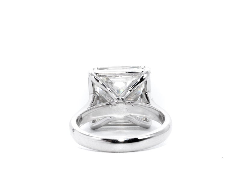 8,78 Karat Radiantschliff Diamant Verlobungsring GIA I SI 1 in Platin 4