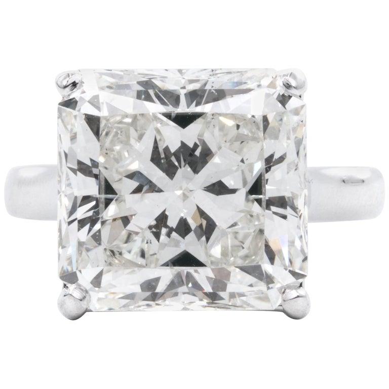 8,78 Karat Radiantschliff Diamant Verlobungsring GIA I SI 1 in Platin 1