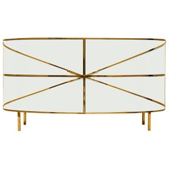88 Secrets White Sideboard with Gold Trims Nika Zupanc