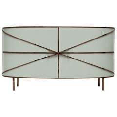88 Secrets Gray Sideboard with Rose Gold Trims by Nika Zupanc