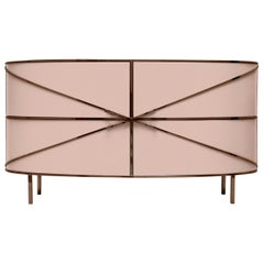 88 Secrets Pink Sideboard with Rose Gold Trims by Nika Zupanc